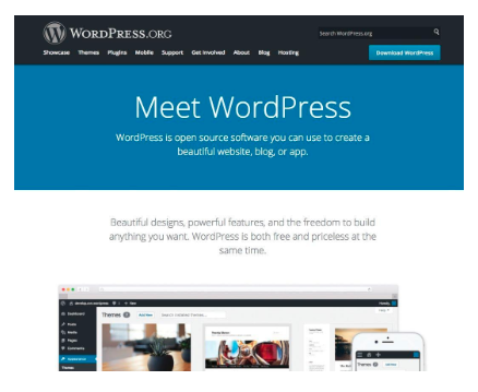 Screen Shot of WordPress