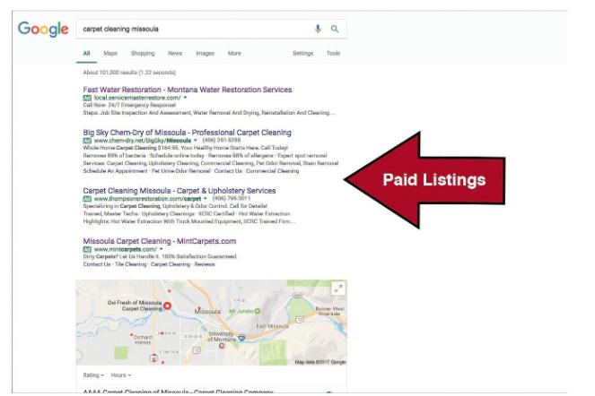 Screen shot of Google Ads